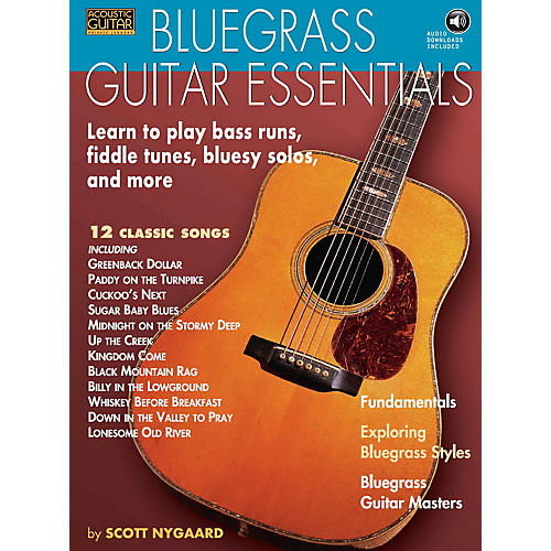 String Letter Publishing Bluegrass Guitar Essentials - Learn to Play Bass Runs, Fiddle Tunes, Bluesy Solos, and More BK/CD