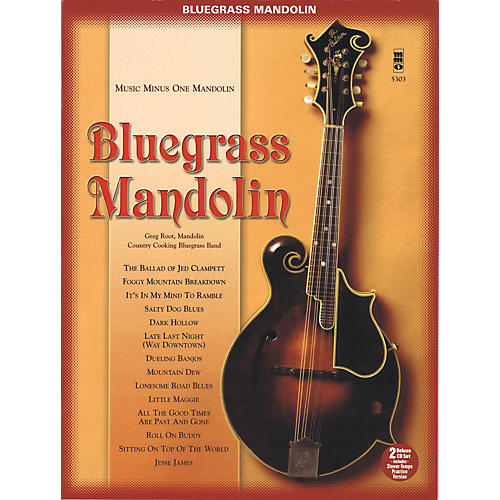 Music Minus One Bluegrass Mandolin (Deluxe 2-CD Set) Music Minus One Series Softcover with CD Performed by Greg Root-thumbnail
