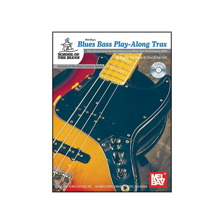 Mel Bay Blues Bass Play-Along Trax Book and CD