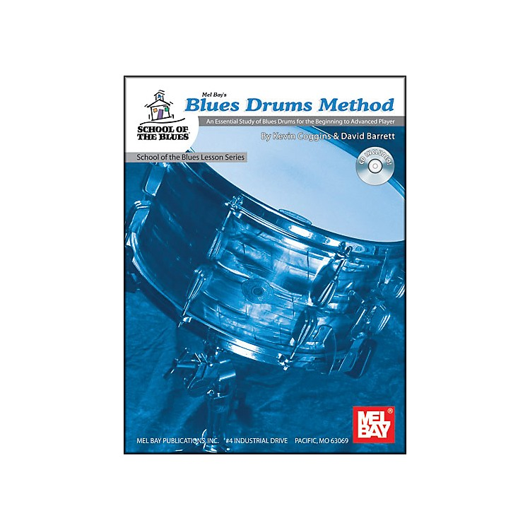 Mel Bay Blues Drums Method Book and CD