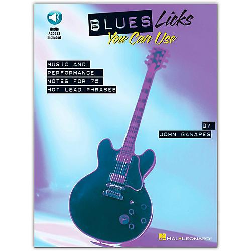 Hal Leonard Blues Licks You Can Use - Guitar (Book/Online Audio)-thumbnail
