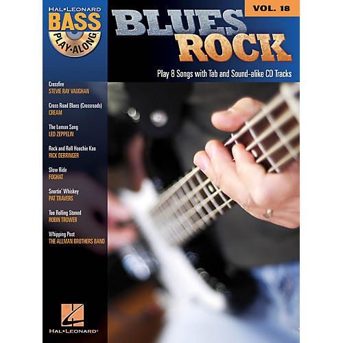 Hal Leonard Blues Rock (Bass Play-Along Volume 18) Bass Play-Along Series Softcover with CD Performed by Various-thumbnail