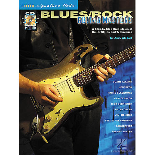 Hal Leonard Blues/Rock Masters Guitar Signature Licks Book with CD