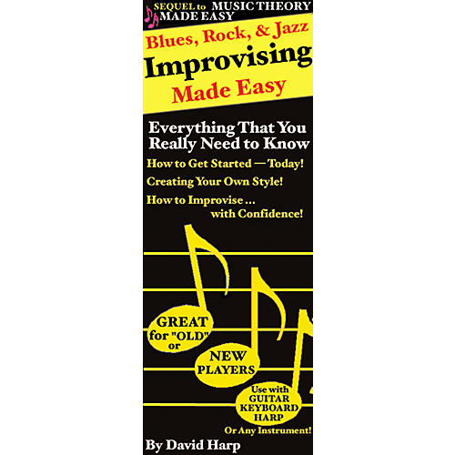 Music Sales Blues, Rock and Jazz Improvising Made Easy Harmonica (Book)-thumbnail