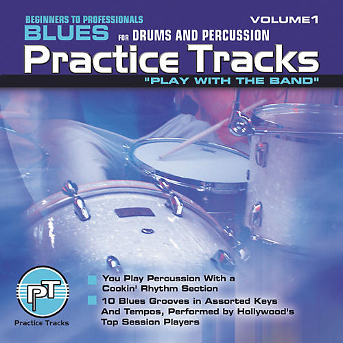 Practice Tracks Blues for All Drums Percussion (CD)
