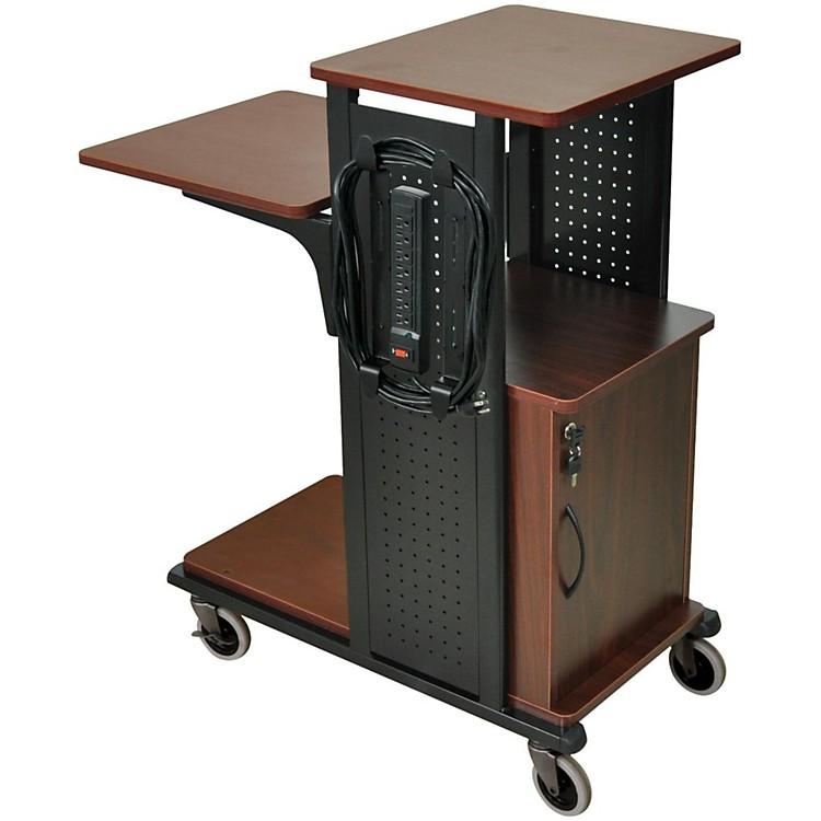 H. WilsonBoardroom Presentation Station with Locking CabinetBlack CherryMedium