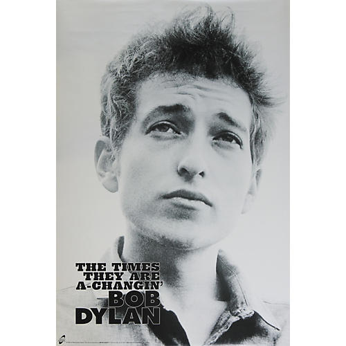 The Card Cafe Bob Dylan Times Are Changin' Poster-thumbnail