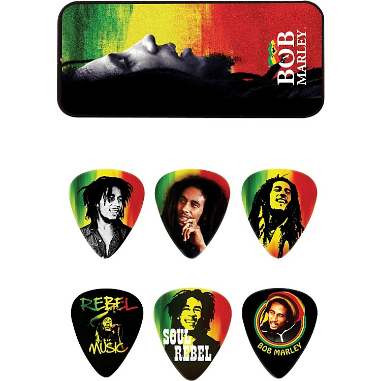 Dunlop Bob Marley Rasta Man Pick Tin with 6 Medium Picks