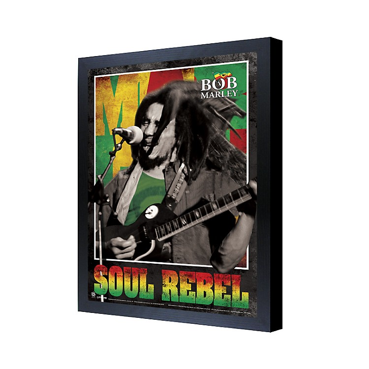 Ace Framing Bob Marley Soul Rebel 3D Framed Poster