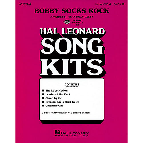 Hal Leonard Bobby Socks Rock (Song Kit) ShowTrax CD Arranged by Alan Billingsley-thumbnail