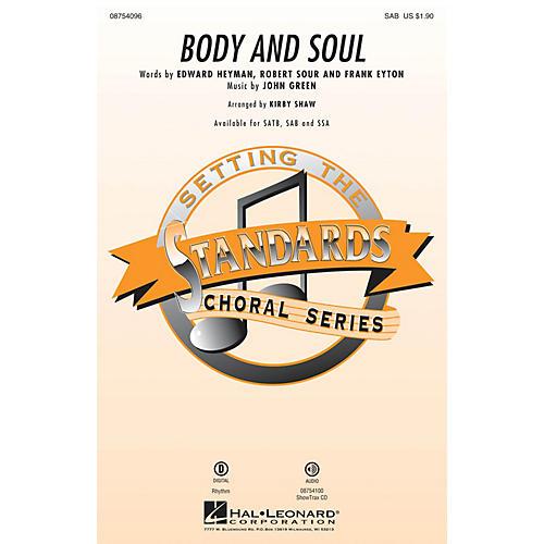 Hal Leonard Body and Soul SAB by Amy Winehouse arranged by Kirby Shaw