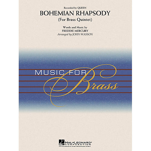 Hal Leonard Bohemian Rhapsody (Brass Quintet) Concert Band Level 3-4 by Queen Arranged by John Wasson-thumbnail