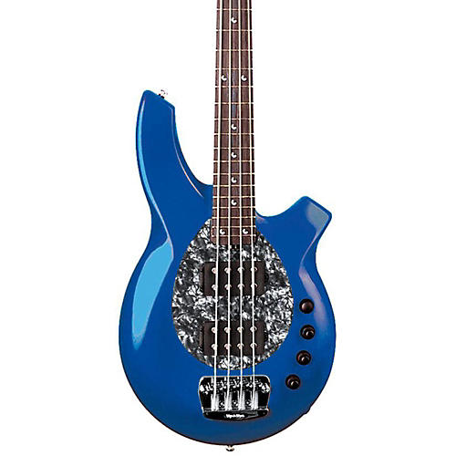 Music Man Bongo 4-String Bass with 2 Humbucker Pickups Blue Pearl