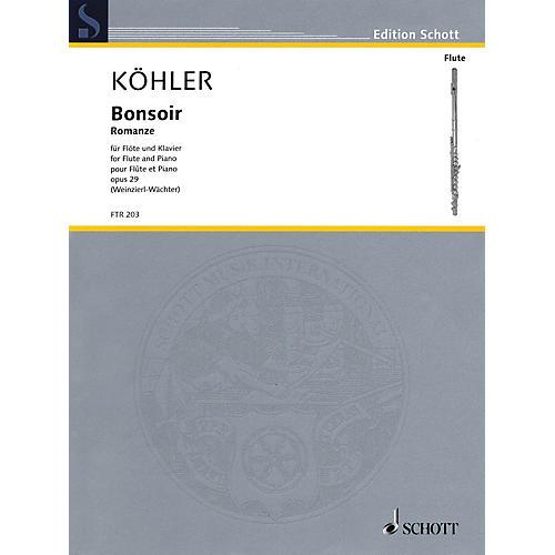 Schott Bonsoir, Op. 29 (Romance Flute and Piano Reduction) Woodwind Series Softcover