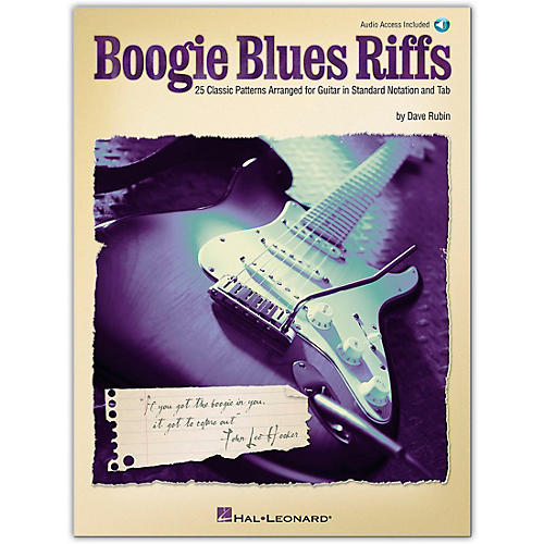 Hal Leonard Boogie Blues Riffs Guitar Tab Book with CD