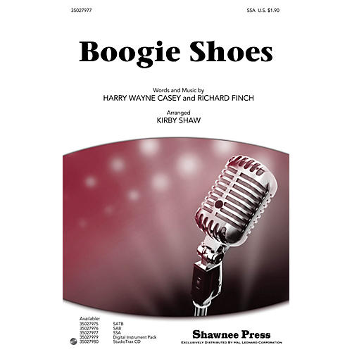 Shawnee Press Boogie Shoes SSA by KC and the Sunshine Band arranged by Kirby Shaw-thumbnail