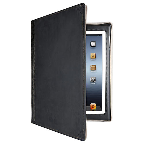 Twelve South BookBook Carrying Case (Book Fold) for iPad - Classic Black - Impact Resistance - Leather