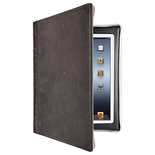 Twelve South BookBook Carrying Case (Book Fold) for iPad - Vintage Brown - Impact Resistance - Leather-thumbnail