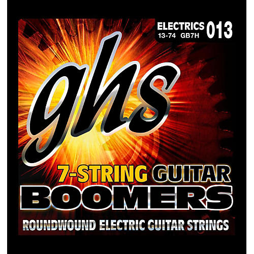 GHS Boomer 7 String Heavy Electric Guitar Set (13-74)-thumbnail