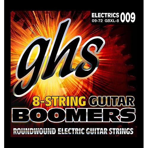 GHS Boomer 8 String Extra Light Electric Guitar Set (9-72)-thumbnail