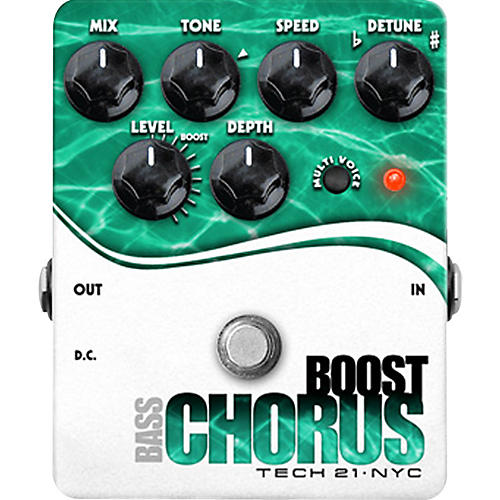 Tech 21 Boost Chorus Bass Effects Pedal