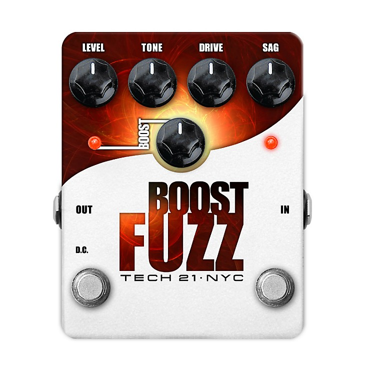 Tech 21 Boost Fuzz Analog Fuzz Guitar Effects Pedal
