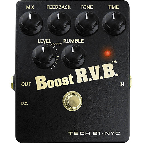 Tech 21 Boost R.V.B. Analog Reverb Emulator Pedal