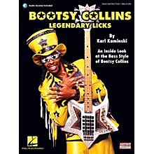 Cherry Lane Bootsy Collins Legendary Licks Bass Instruction Series Softcover with CD Written by Karl Kaminski