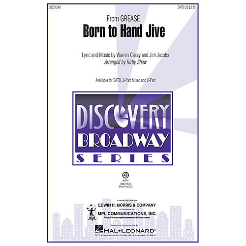 Hal Leonard Born to Hand Jive (from Grease) (3-Part Mixed) 3-Part Mixed Arranged by Kirby Shaw-thumbnail