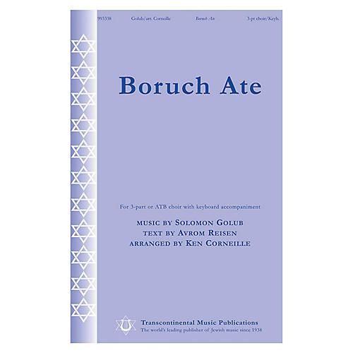 Transcontinental Music Boruch Ate 3 Part arranged by Ken Corneille-thumbnail