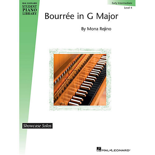 Hal Leonard Bourrée in G Major Piano Library Series by Mona Rejino (Level Early Inter)
