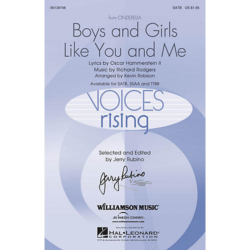 Hal Leonard Boys and Girls Like You and Me (from Cinderella) TTBB Arranged by Kevin Robison