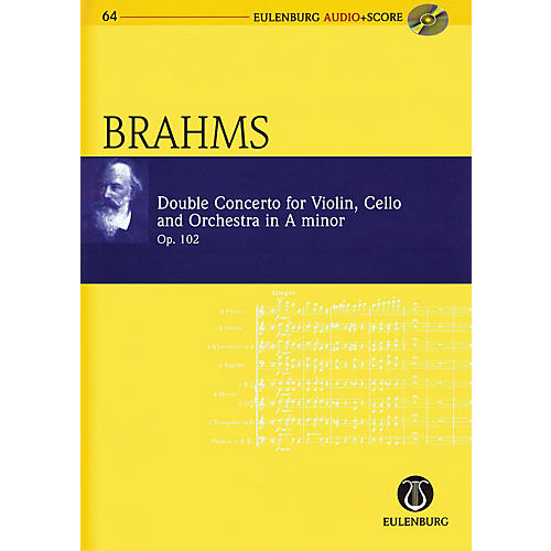 Eulenburg Brahms - Double Concerto for Violin, Cello, and Orchestra in A-minor Op. 102 Study Score w/ CD-thumbnail