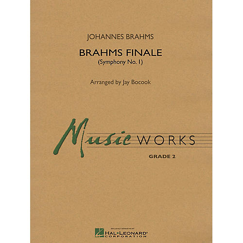Hal Leonard Brahms Finale (From Symphony No. 1) Concert Band Level 3 Arranged by Jay Bocook