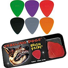 Snarling Dogs Brain Guitar Picks and Tin Box 1 Dozen .88 mm