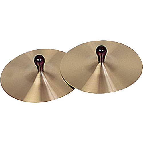 Rhythm Band Brass Cymbals with Knobs 7 in. Pair With Handles