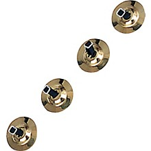 Rhythm Band Brass Cymbals with Knobs Finger Cymbals, Two Pair With Straps