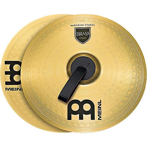 Meinl Brass Marching Medium Cymbal Pair 14 in.