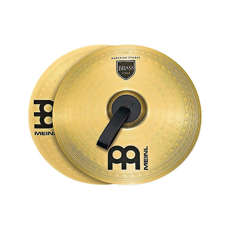 Meinl Brass Marching Medium Cymbal Pair 14 inch