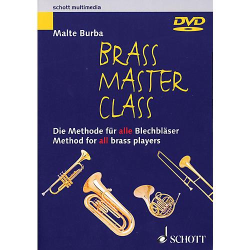 Schott Brass Master Class (Method for All Brass Players DVD (NTSC)) Brass Series DVD  by Malte Burba-thumbnail