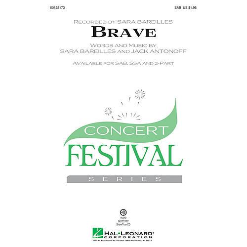 Hal Leonard Brave SSA by Sara Bareilles Arranged by Audrey Snyder