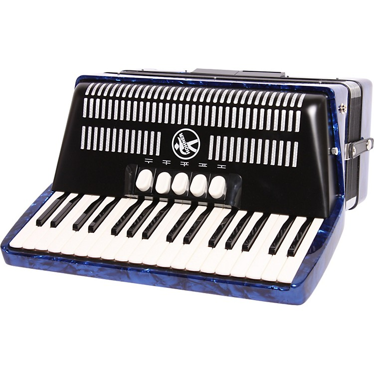 Hohner Bravo III 72 Accordion Blue