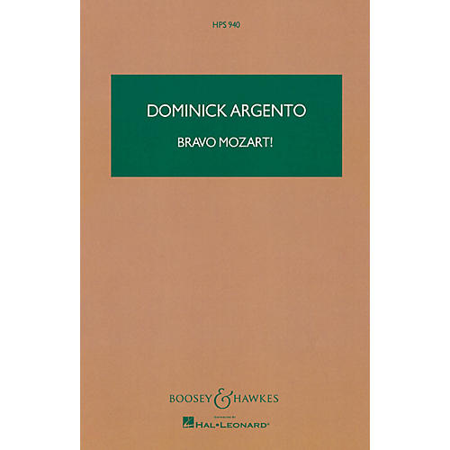 Boosey and Hawkes Bravo Mozart! Boosey & Hawkes Scores/Books Series Composed by Dominick Argento-thumbnail