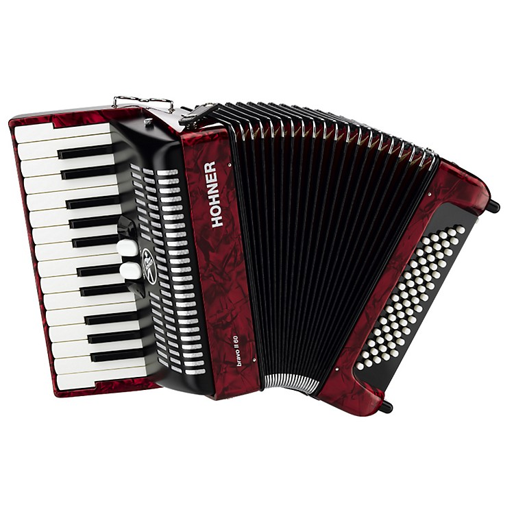 Hohner Bravo Piano Accordion 60 Bass