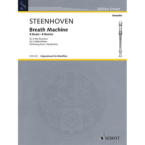 Schott Breath Machine (Alto Recorder Duet Performance Score) Woodwind Series Softcover-thumbnail