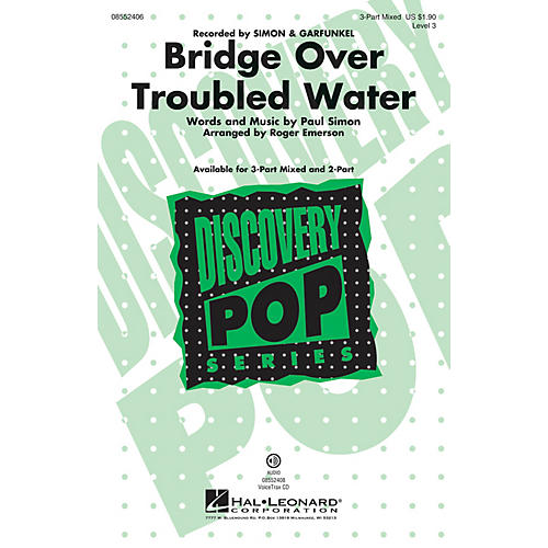 Hal Leonard Bridge over Troubled Water (Discovery Level 3) 2-Part by Simon & Garfunkel Arranged by Roger Emerson-thumbnail