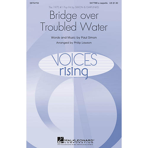 Hal Leonard Bridge over Troubled Water SATTBB A Cappella by Simon & Garfunkel arranged by Philip Lawson