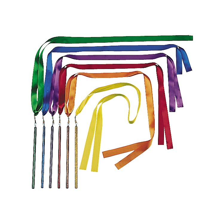 KSP Bright Color Ribbon Wands  72 Inch