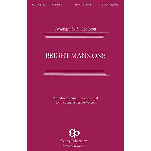 Fred Bock Music Bright Mansions SATB DV A Cappella arranged by K. Lee Scott-thumbnail