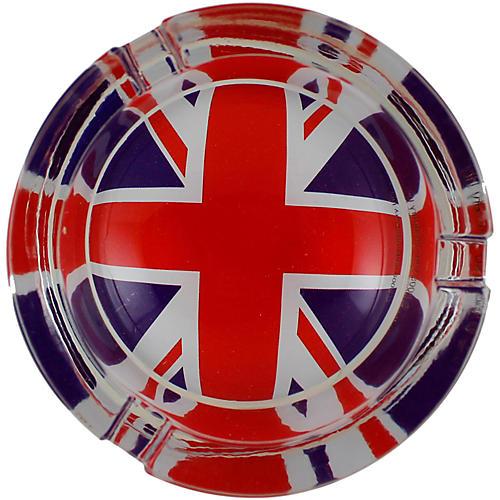 C&D Visionary British Flag Glass Ashtray
